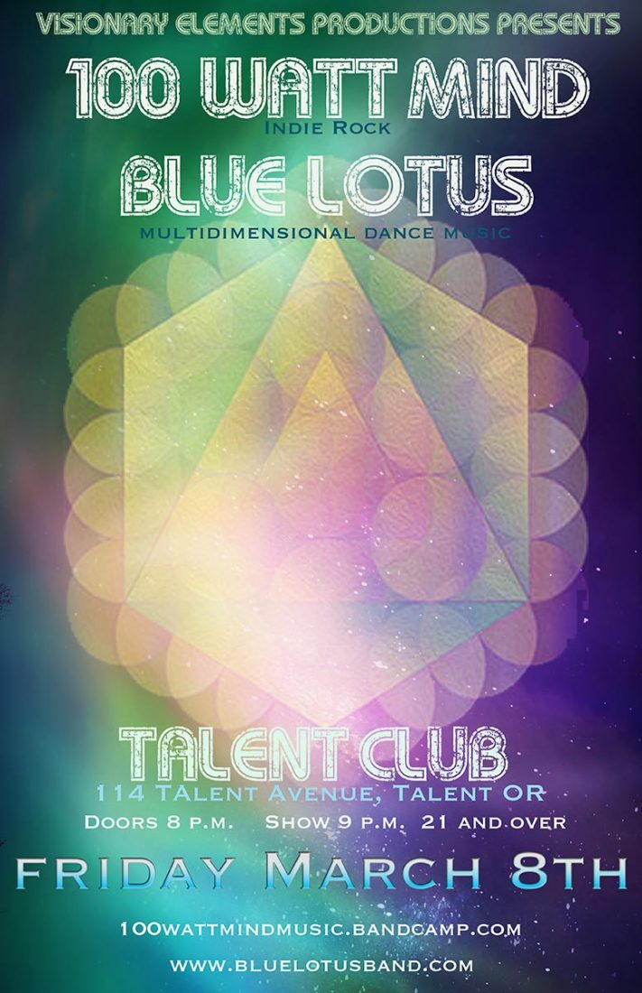 100 Watt Mind plays live at the Talent Club on March 8, 2019. Guest performers Blue Lotus