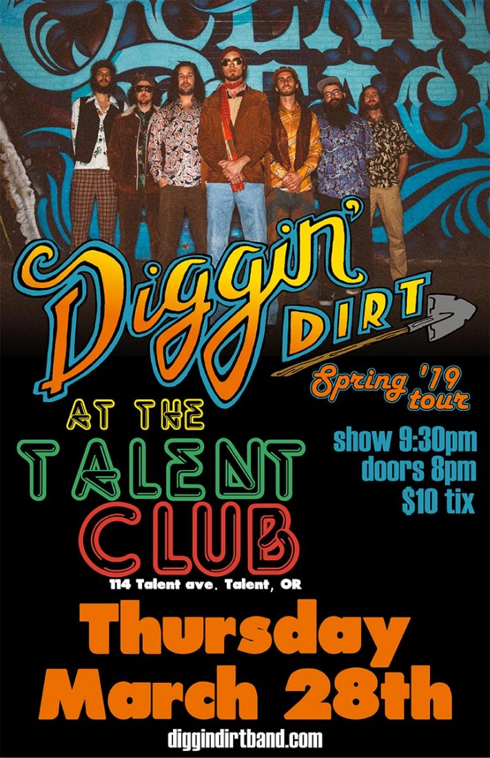Diggin Dirt plays live at the Talent Club on Thursday March 28, 2019