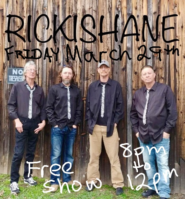 Rickishane plays live at the Talent Club Friday March 29, 2019