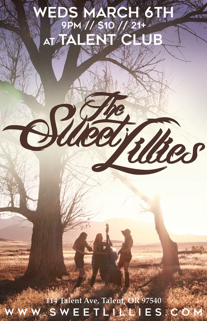 Sweet Lilies play live at the Talent Club on Wednesday, March 6, 2019