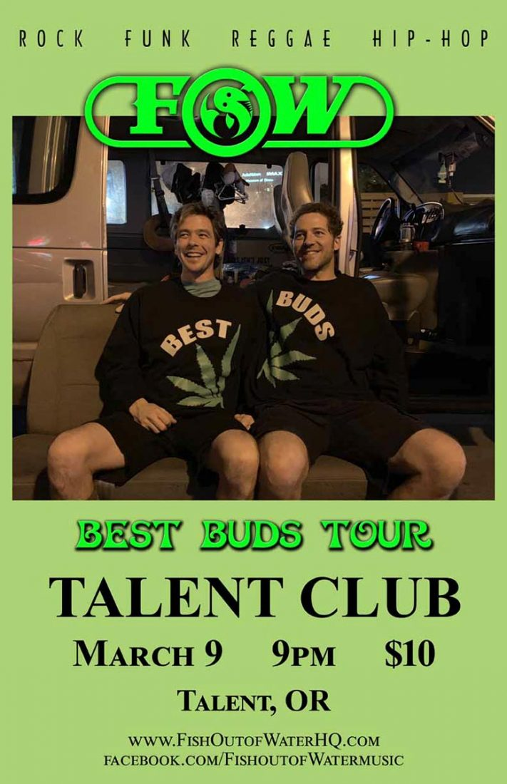 Fish Out of Water plays live at the Talent Clun Saturday March 9, 2019