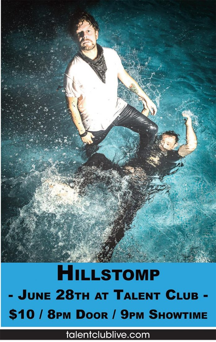 Hillstomp plays country blues stomp Live at the Talent Club, Friday, June 28th, 2018 Doors: 8pm Show: 9:00pm $10 cover at the door.