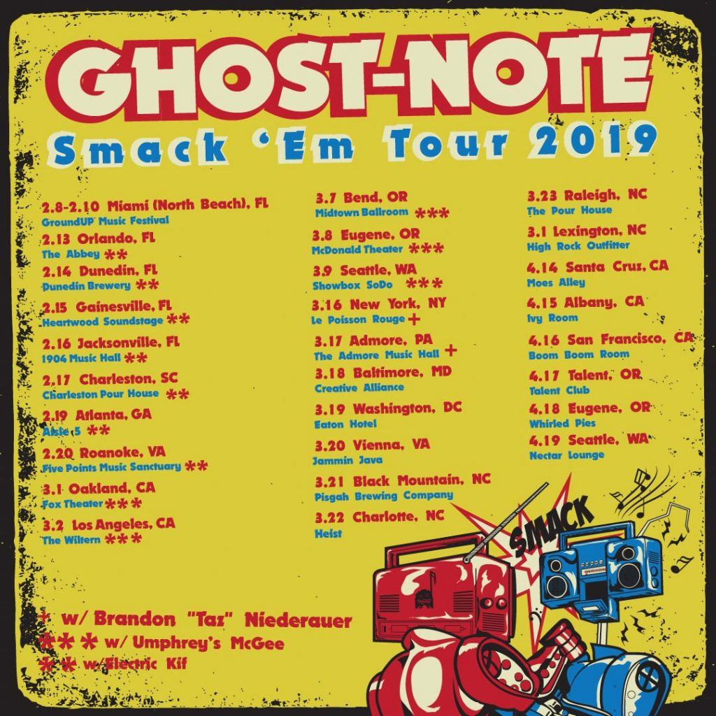 Ghost-Note performs live at the Talent Club on Wednesday April 17th Doors:8pm Show:9pm $20 Cover