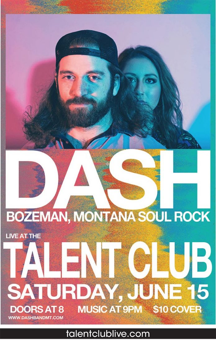 Dash plays live at the Talent Club on Saturday, June 15, 2019 at 9 pm